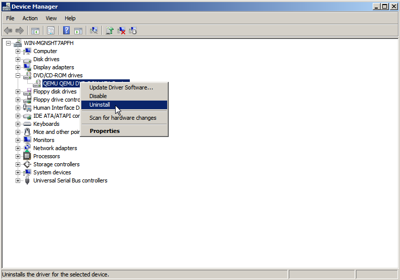 10 10  Uninstalling Virtuozzo Guest Tools from Virtual Machines